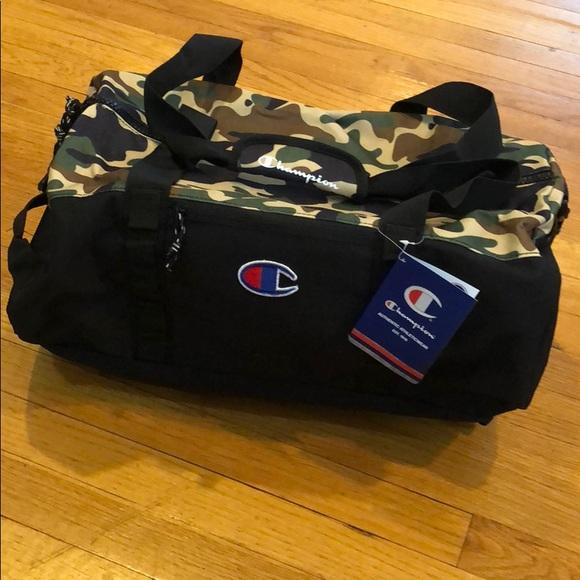 NWT Champion Duffle bag Camo and Black 0c8eaff4337b8